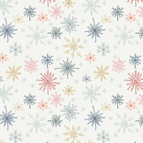 "Cozy & Joyful ""Make Snow Flurries"" Designed by Maureen Cracknell Fabric by Yard"