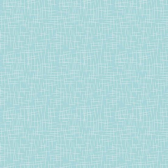 Large Hashtag Aqua Fabric by the Yard