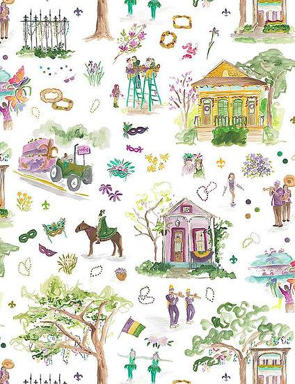 """Mardi Gras """"Mardi Gras"""" for Dear Stella - Fabric by the Yard"""