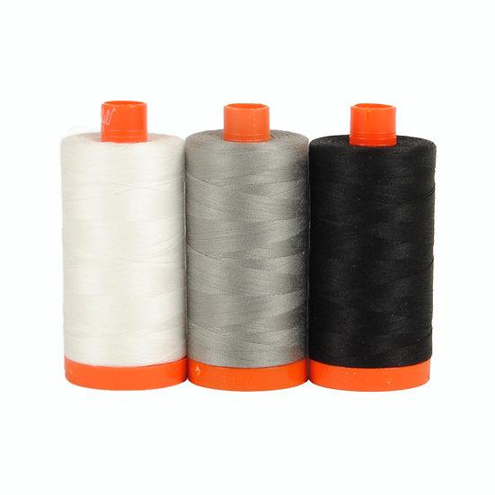 Aurifil Color Builder Thread Box - Carrara Black/White