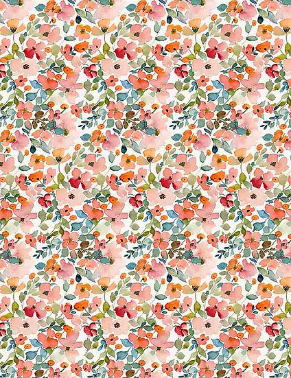 "Creative Cats ""Floral Haze"" for Dear Stella - Fabric by the Yard"