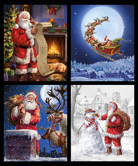 """Christmastime is Here """"Pillow Panel"""" by Riley Blake Designs"""