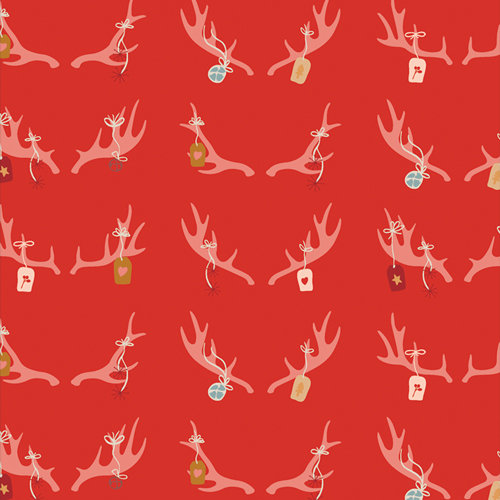 """Cozy & Magical """"Cheerful Antlers"""" Designed by Maureen Cracknell"""