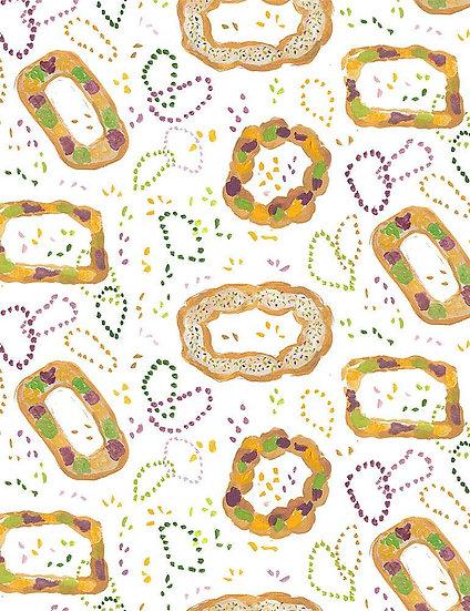 """Mardi Gras """"King Cake"""" for Dear Stella - Fabric by the Yard"""