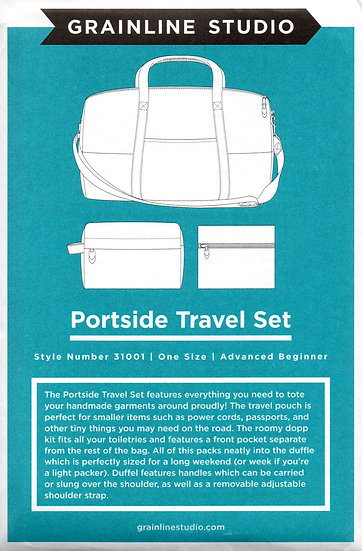 Portside Travel Set Pattern by Grainline Studio