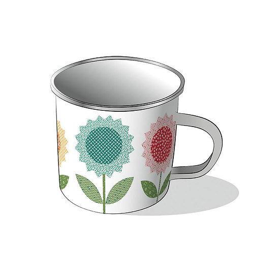 Lori Holt Flea Market Enamel Tin Camp Style Mug