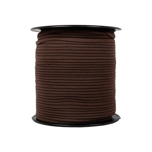 "Brown Banded Stretch Elastic 1/6"" x 5 yards"