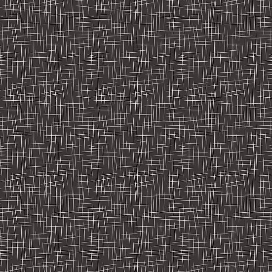 Large Hashtag Black Fabric by the Yard