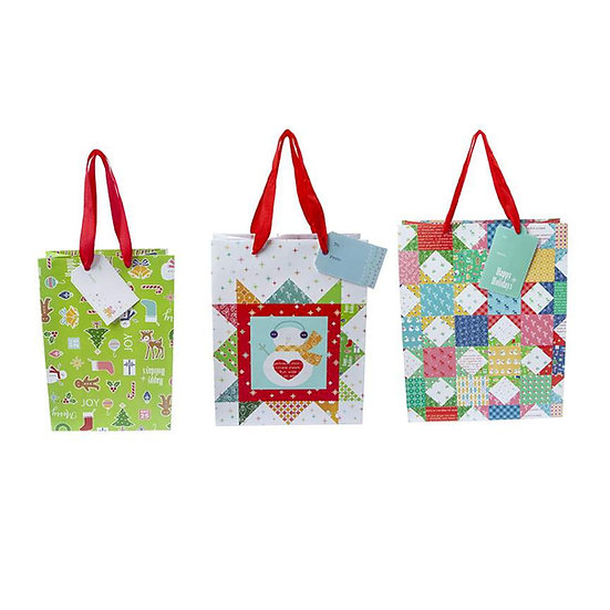 Lori Holt Gift Bag Christmas - Set of 24
