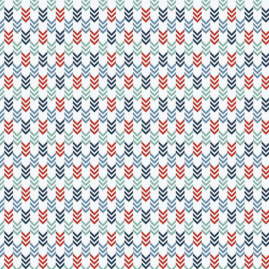 Sea Arrows on White by Dani Mogstad - Fabric by the Yard