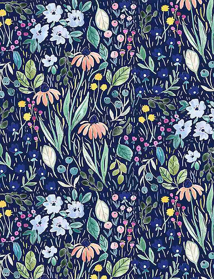 """Creative Cats """"Blooming Lovely"""" for Dear Stella - Fabric by the Yard"""