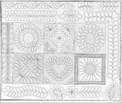 Skillbuilder 2 Fabric Practice Panel for FMQ Practice designed by Renae G Allen
