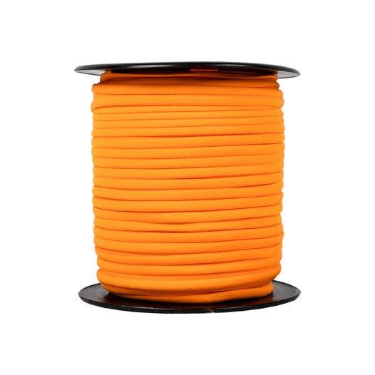 "Orange Banded Stretch Elastic 1/6"" x 5 yards"