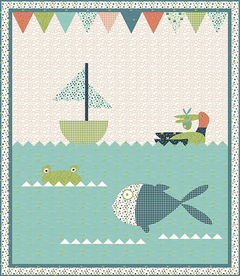Lake Fun Quilt Pattern by Sandy Gervais