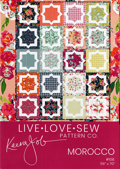 Morocco Quilt Pattern by Keera Job of Live Love Sew Pattern Co.