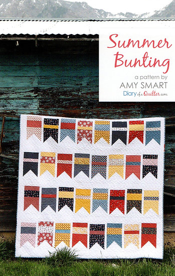 Summer Bunting Quilt Pattern by Amy Smart of Diary of a Quilter