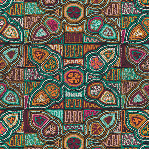 """Andina """"Flowering Molas"""" AGF - Fabric by the Yard"""