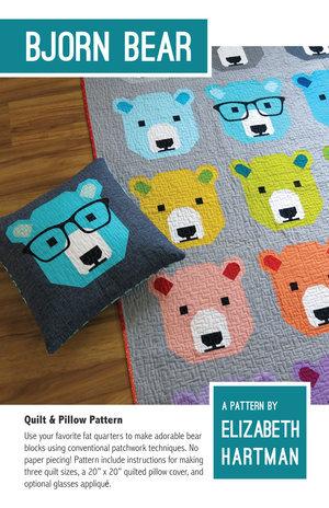 Bjorn Bear Sewing Pattern by Elizabeth Hartman