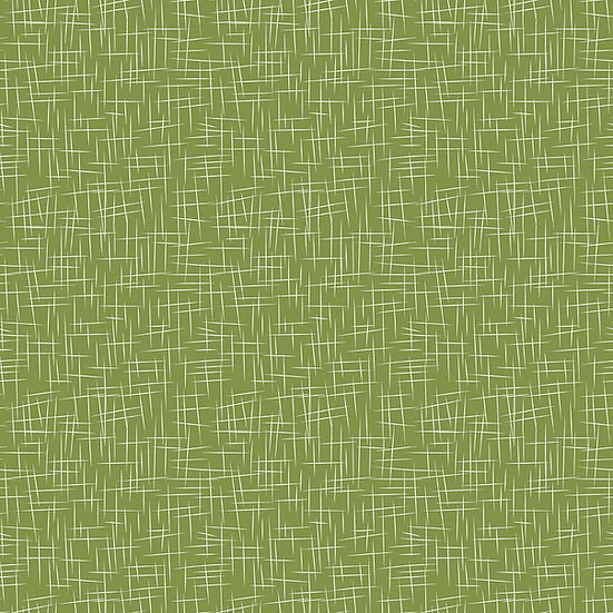 Large Hashtag Treetop Green Fabric by the Yard