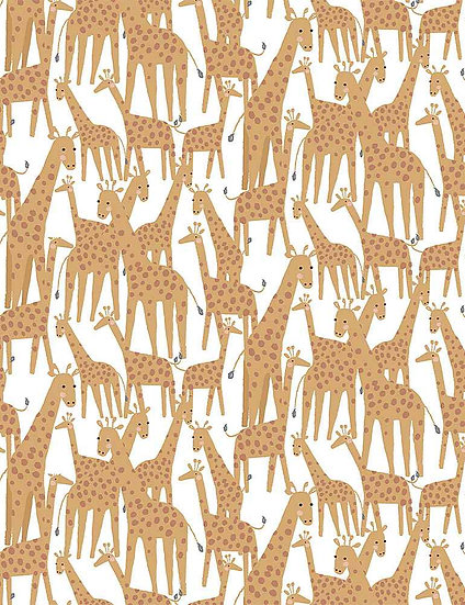 """Call of the Wild """"Giraffes"""" for Dear Stella - Fabric by the Yard"""