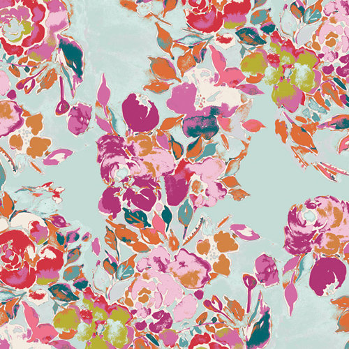 Bloomsbury Botanist's Poem Designed by Bari J. Fabric by the Yard