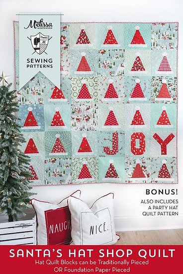 Santa's Hat Shop Quilt Pattern by Melissa Mortenson