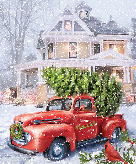 """Christmastime is Here """"Christmas Delivery Panel"""" by Riley Blake Designs"""