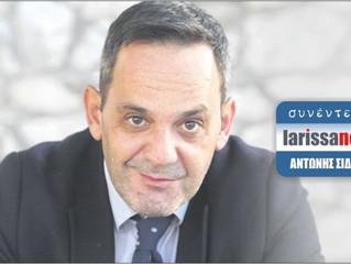 Συνέντευξη στον Αντώνη Σιδέρη από την ψηφιακή - έντυπη larissanet.gr
