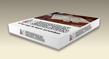 Scrumban simulation - box with backgroun