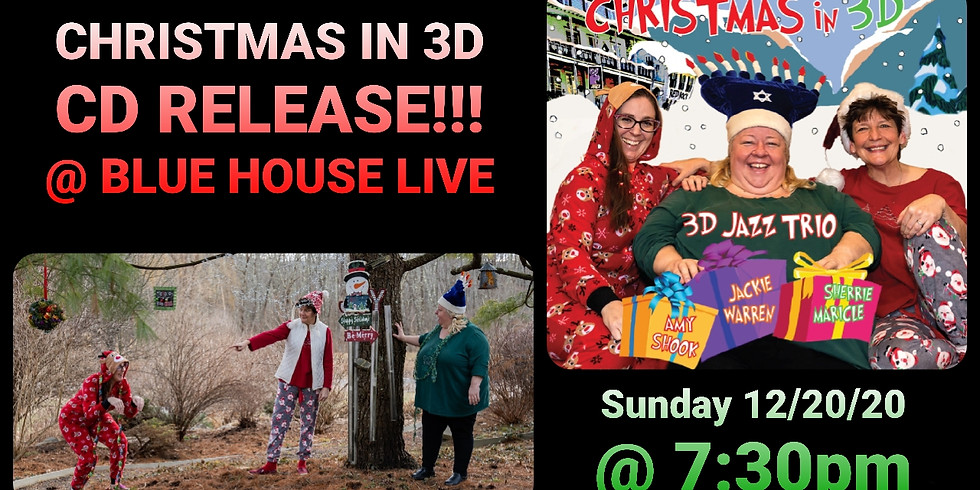 """3D Jazz Trio """"Christmas in 3D"""" cd release!"""