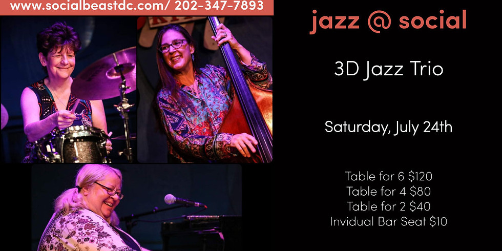 3D Jazz Trio LIVE at Social Beast in D.C.!