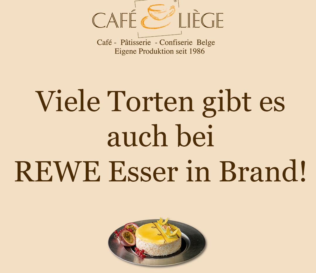 Viele Torten gibt es auch bei REWE Esser in Brand!