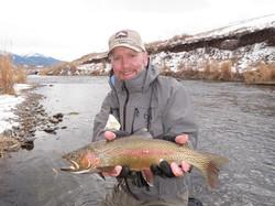 Winter fishing on Depuys Spring Creek