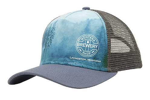 Montana Brewery Shop Misty Mountain Hop Sublimated CapTrucker Hat