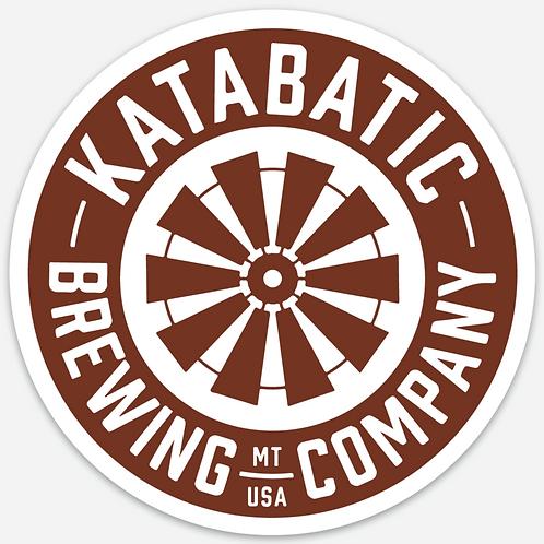 Katabatic Brewing Circle Sticker