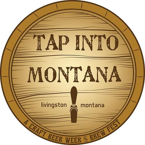 Tap into Montana Round Sticker
