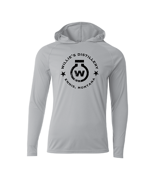 Willie's Distillery Hooded Fishing Shirt