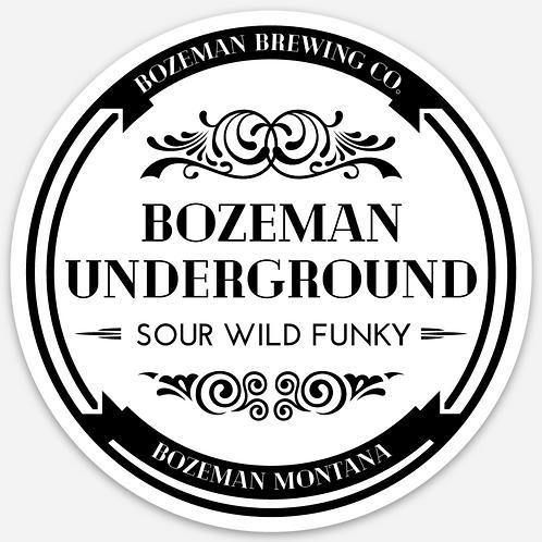 Bozeman Brewing Bozeman Underground Sticker