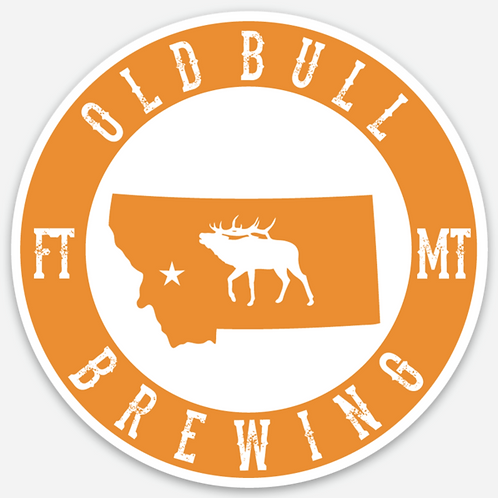 Old Bull Brewing Circle Sticker