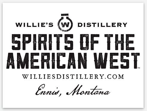 Willie's Distillery Rectangle Sticker