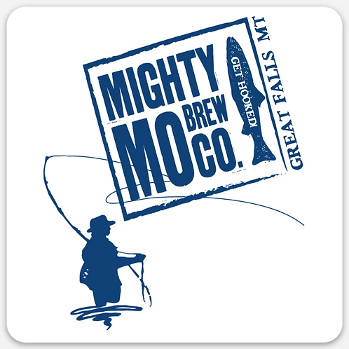 Mighty Mo Get Hooked Sticker