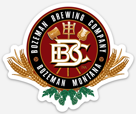 Bozeman Brewing Die Cut Logo Sticker