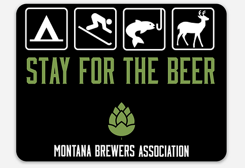 MBA Stay for the Beer Road Sign Sticker