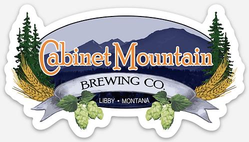 Cabinet Mountain Die Cut Logo Sticker