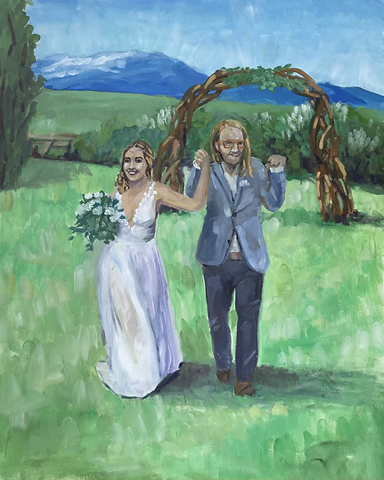 Live wedding painting in Montana