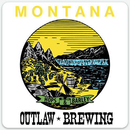 Outlaw Brewing Montana Sticker
