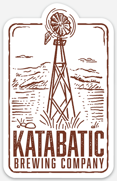 Katabatic Brewing Rectangle Die Cut Sticker