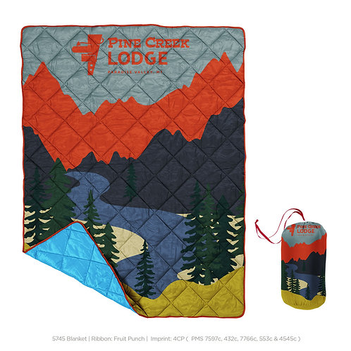 Pine Creek Lodge Quilted Blanket
