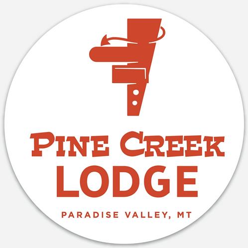 Pine Creek Lodge Circle Sticker