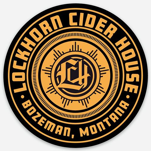 Lockhorn Cider Badge Circle Sticker